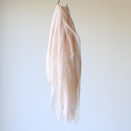 silk cotton stole : pink×purple