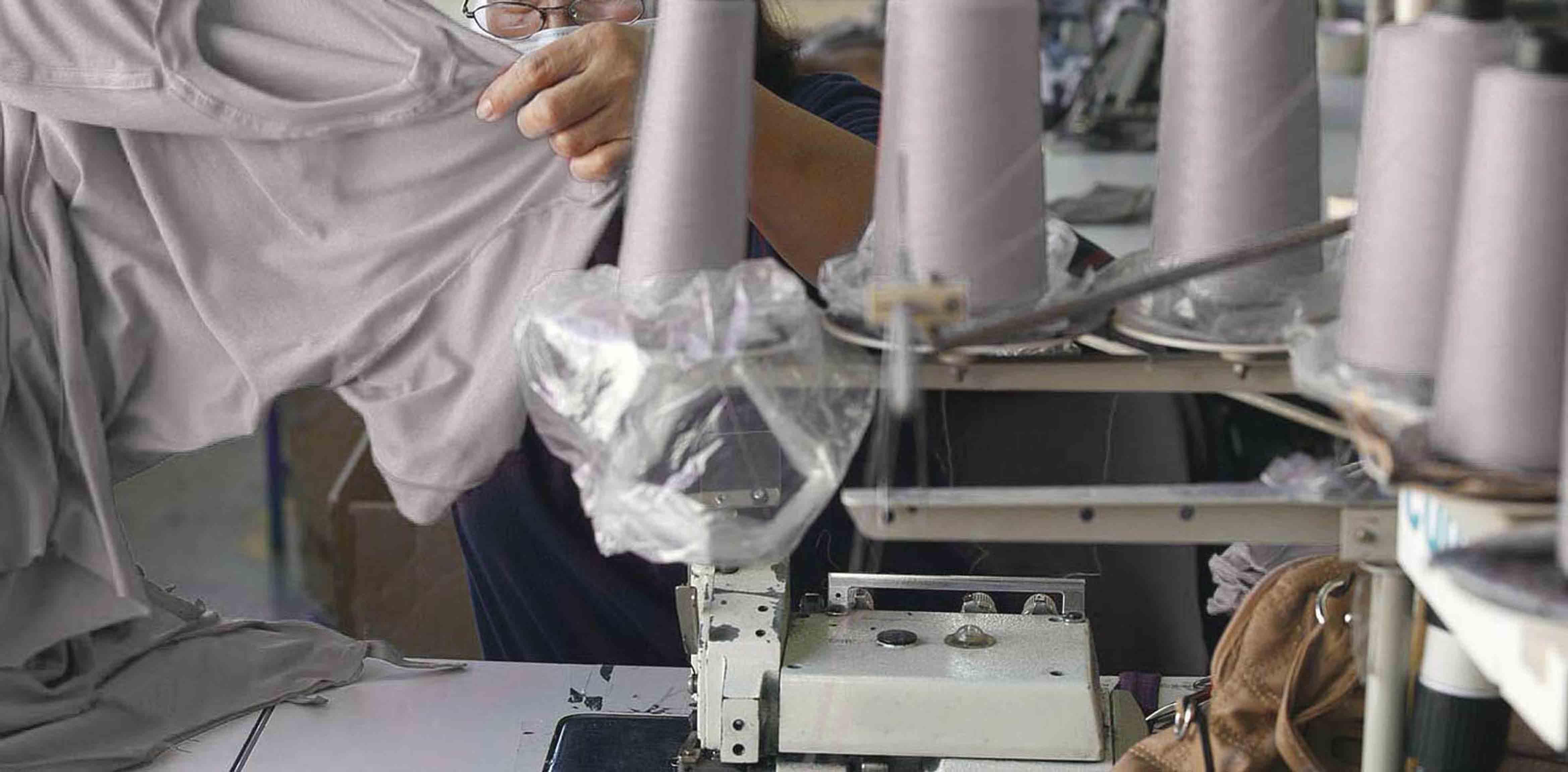 東北の縫製工場